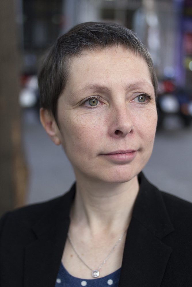 Anne-Cécile Robert, durante la entrevista.