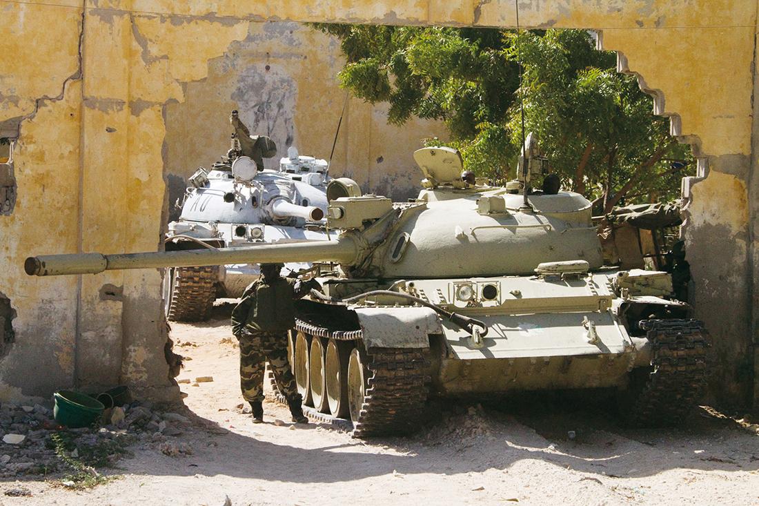 Varios tanques en Mogadiscio, capital de Somalia / Fotografía: Archivo Mundo Negro