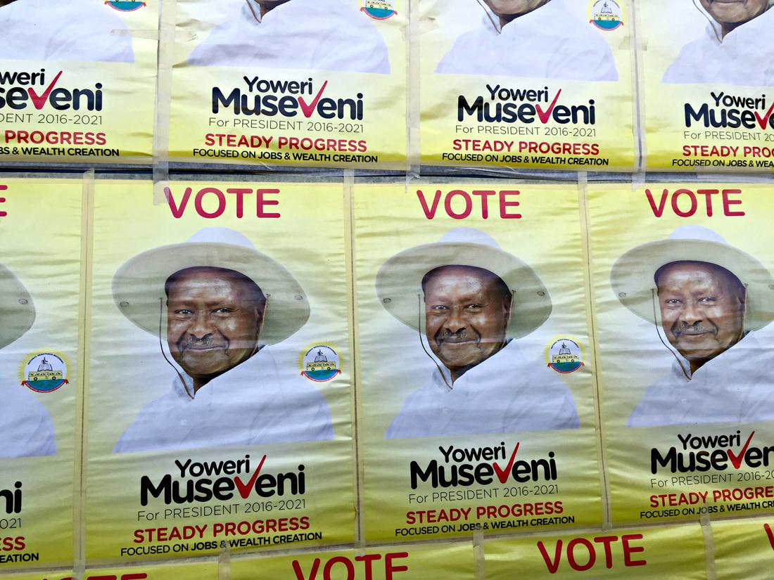 Propaganda del National Resistance Movement, el partido liderado por Yoweri Museveni / Foto: Pablo Moraga