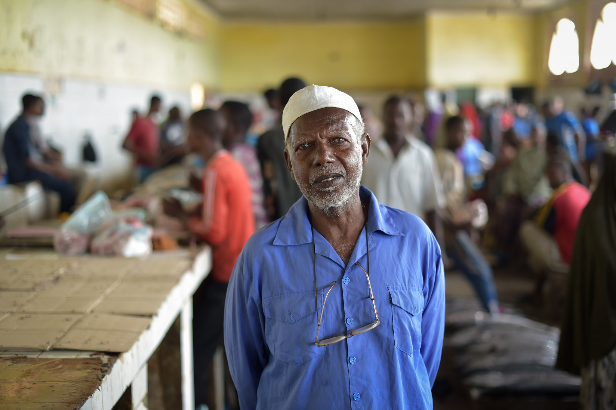 Mercado del pescado en Mogadiscio, capital de Somalia. Foto: AMISOM