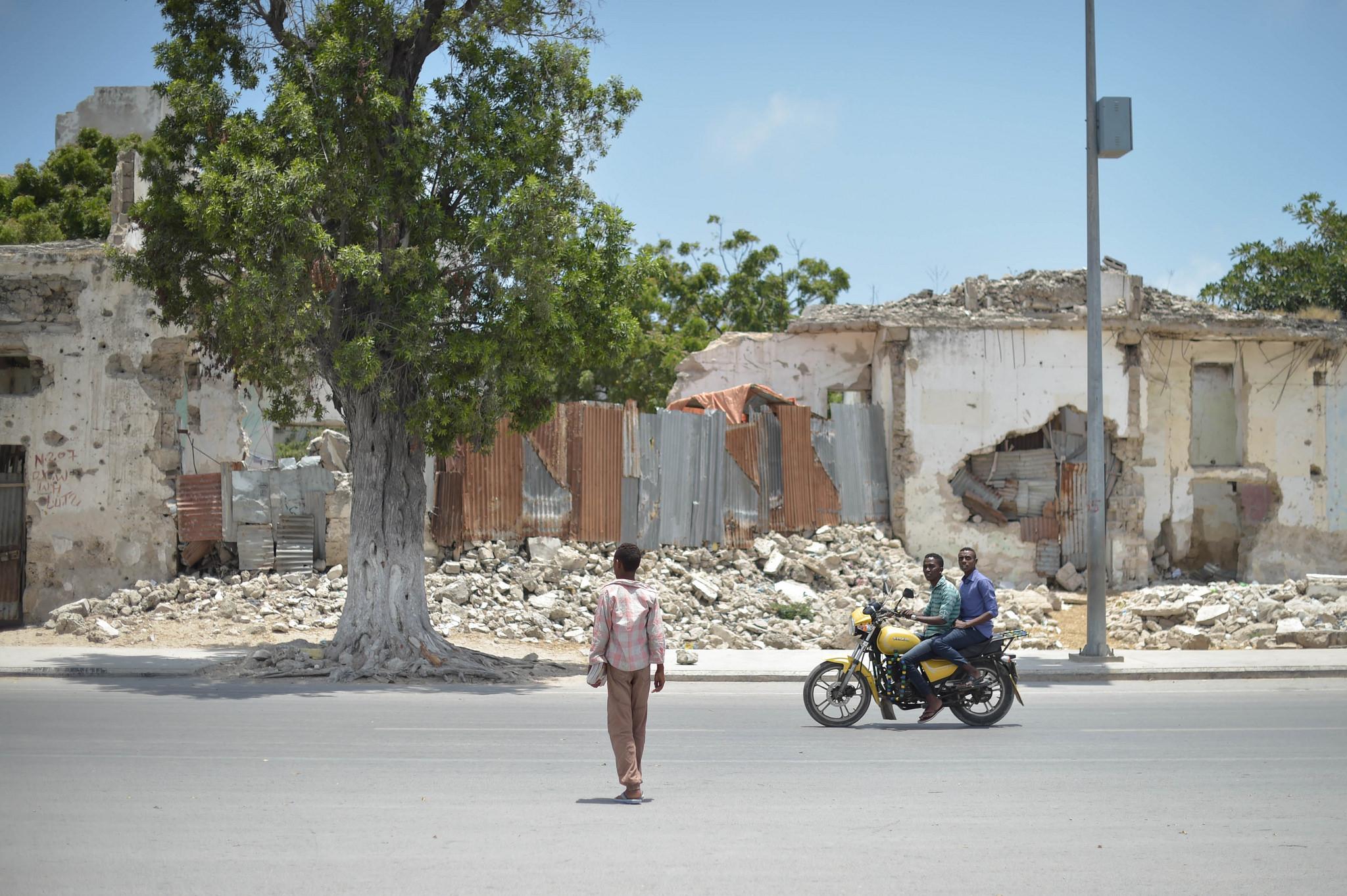 Calles de Mogadiscio, capital de Somalia. Foto: AMISOM