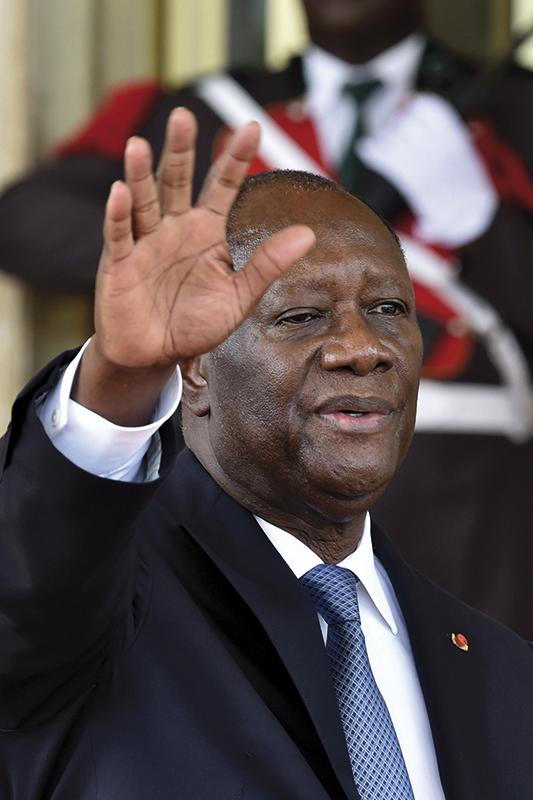 El actual presidente del país, Alassane Ouattara /Fotografía: Getty Images
