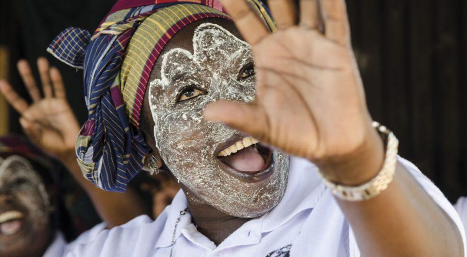 Una mujer en Mafalala, Maputo, Mozambique
