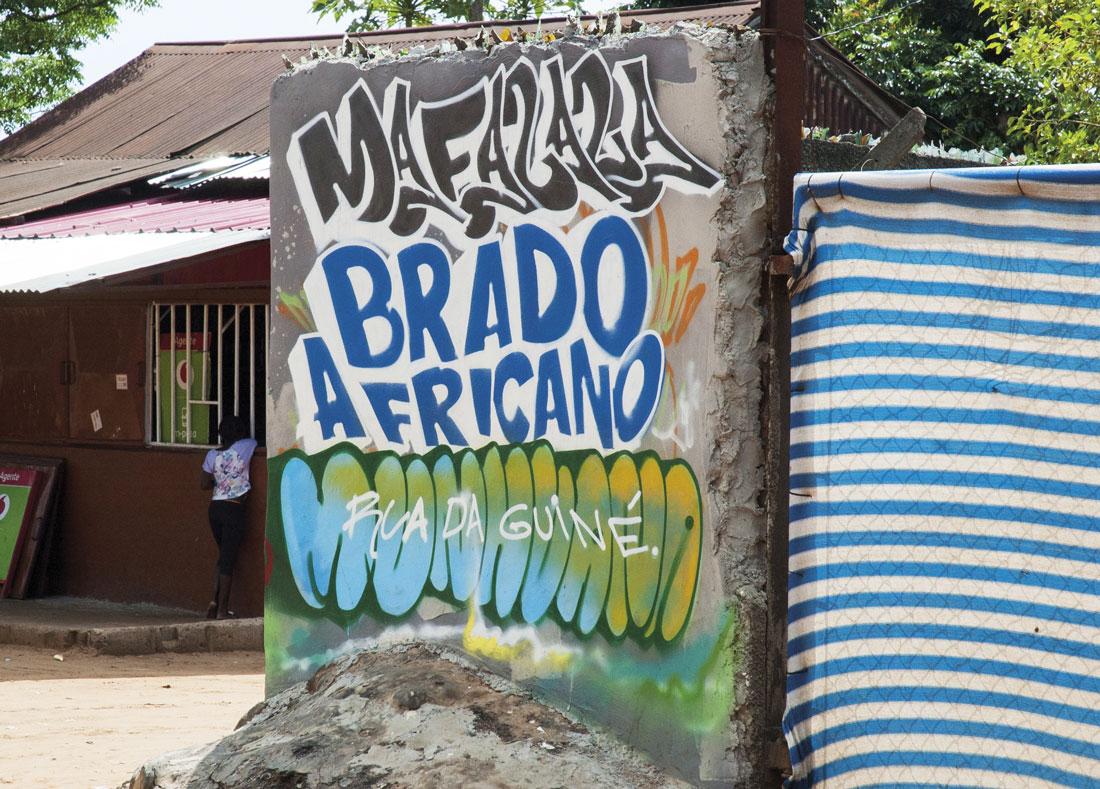 Grafiti en Mafalala, Maputo / Fotografía: Jaime Calvera