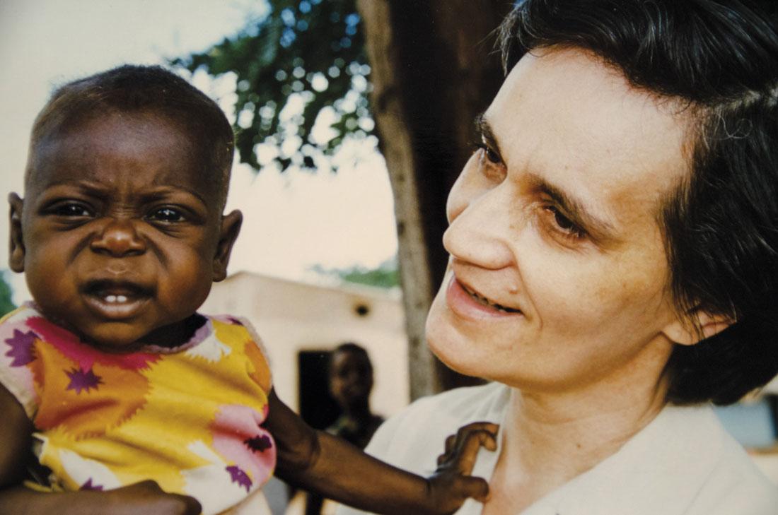 María Pedrón con niño