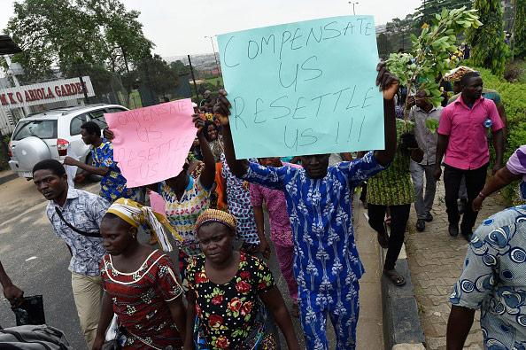 protesta desalojo en lagos