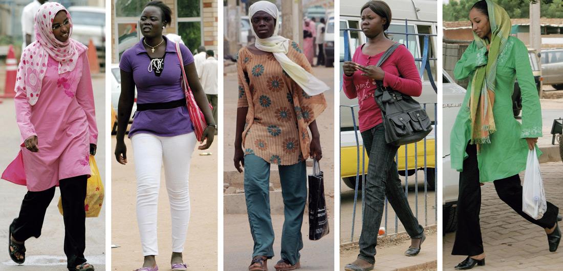 mujeres con pantalones en Sudán