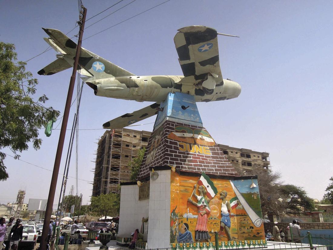 El avión que bombardeó Hargeisa.