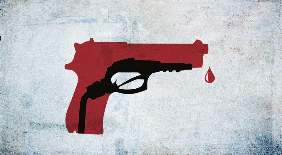 pistola petróleo